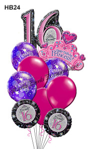 HB24 Princess Sweet 16 Bouquet