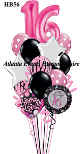 HB56 Sweet 16th Birthday 3 One Size 8995 2 40 Megaloon Pink Numbers 4 11 Polka Dot Latex Balloons Solid Colored With